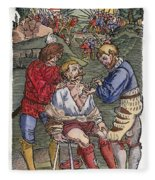 Battlefield Surgeon, 1540 Fleece Blanket