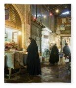 Bazaar Market In Isfahan Iran Fleece Blanket