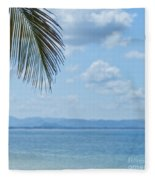 Beach Background Fleece Blanket