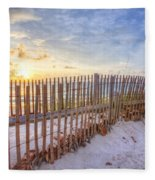 Beach Fences Fleece Blanket