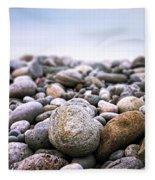 Beach Pebbles Fleece Blanket