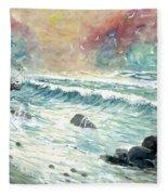 Beach Tide Fleece Blanket