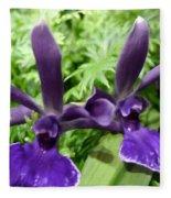 Beautiful Orchid Flower  Fleece Blanket