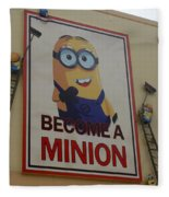 Become A Minion Fleece Blanket