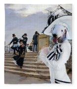 Bedlington Terrier Art Canvas Print Fleece Blanket