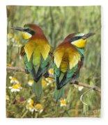 Bee-eaters Fleece Blanket