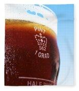 Beer Pint Glass Fleece Blanket