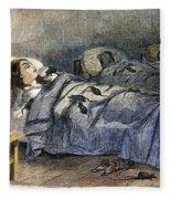 Bellevue Hospital, 1860 Fleece Blanket