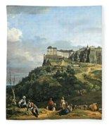 Bellotto's The Fortress Of Konigstein Fleece Blanket