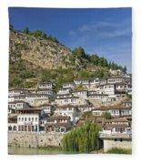 Berat Old Town In Albania Fleece Blanket