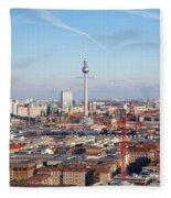 Berlin Cityscape Fleece Blanket
