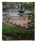Bethesda Fountain - Central Park Nyc Fleece Blanket