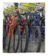 Bicycles In Amsterdam Fleece Blanket