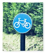 Bicyle Route Fleece Blanket