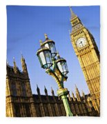 Big Ben And Palace Of Westminster Fleece Blanket