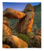 Big Bend Window Rock Fleece Blanket