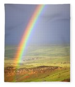 Big Horn Rainbow Fleece Blanket
