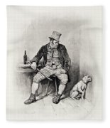 Bill Sykes And His Dog, From Charles Fleece Blanket