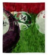 Billiards Abstract Fleece Blanket