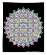 1 Billion Dollars Geometric Black Fleece Blanket