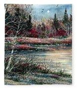 Birch Lake Fleece Blanket