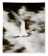 Bird Flying In The Clouds Fleece Blanket