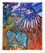 Bird Heart I Fleece Blanket