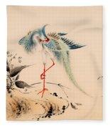 Birds And Flowers Fleece Blanket