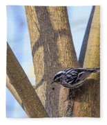 Black And White Warbler Fleece Blanket