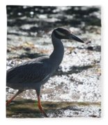 Black-crowned Night-heron Fleece Blanket