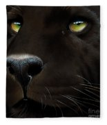 Black Leopard Fleece Blanket