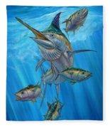 Black Marlin And Albacore Fleece Blanket