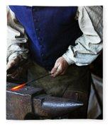 Blacksmith At The Old Fort Fleece Blanket