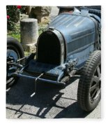 Blue Bugatti Oldtimer Fleece Blanket
