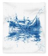 Blue Fresh Water  Fleece Blanket