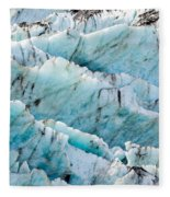 Blue Glacier Ice Background Texture Pattern Fleece Blanket