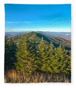 Blue Ridge Mountains North Carolina Fleece Blanket