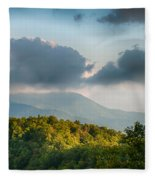 Blue Ridge Parkway Scenic Mountains Overlook Summer Landscape Fleece Blanket