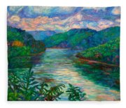 Bluestone Lake Fleece Blanket