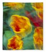 Blurred Tulips Fleece Blanket