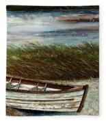 Boat On Shore Fleece Blanket