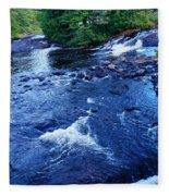 Bog River Falls Fleece Blanket