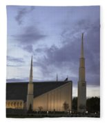 Boise - Mormon Temple Fleece Blanket