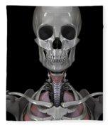 Bones Of The Head Fleece Blanket