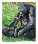 Bonobo Adult And Baby Fleece Blanket