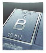 Boron Chemical Element Fleece Blanket