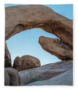 Boulders In A Desert, Joshua Tree Fleece Blanket