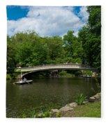 Bow Bridge Central Park Fleece Blanket