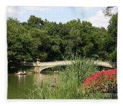 Bow Bridge Over The Lake Fleece Blanket