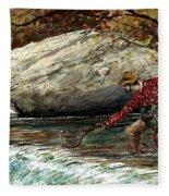 Boy And His Catch Fleece Blanket